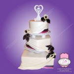 3 tier tower wedding cake