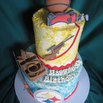 sports specific custom birthday cake