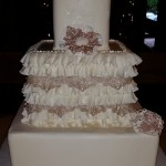 large 5 tier wedding or anniversary cake